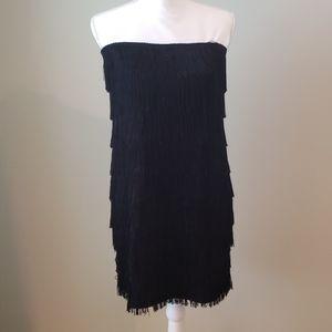 Express Black Fringe Dress